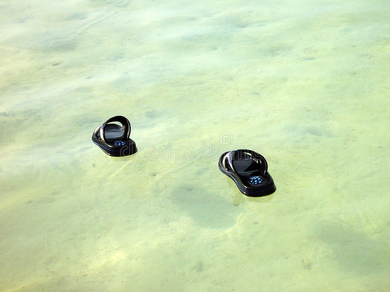 Walk on water stock image
