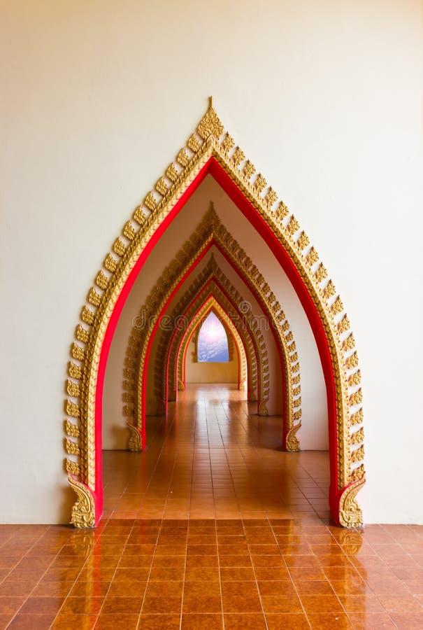 Walk Way Buddhist. stock image