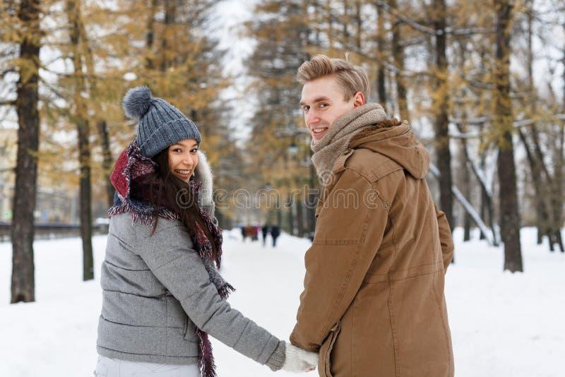 Walk in winter park stock photos