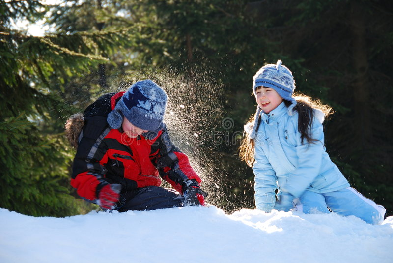 walka śnieg obrazy stock