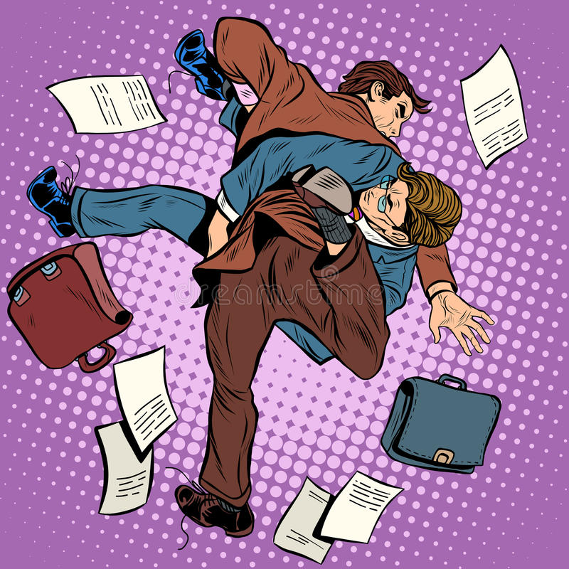 Walka mężczyzna biznesmeni ilustracja wektor