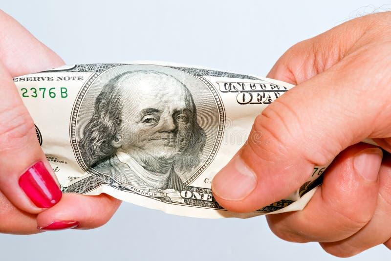 Walka nad pieniądze C obrazy stock