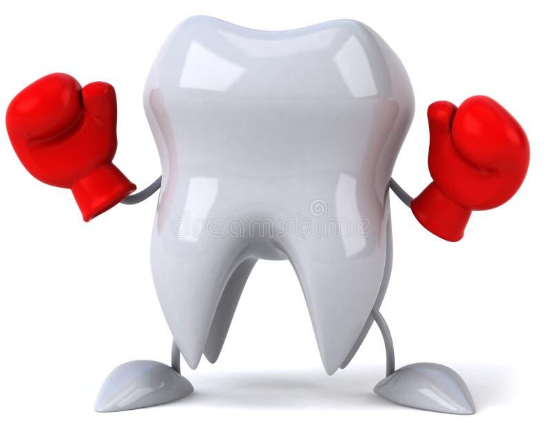 walka przygotowywająca ząb ilustracji