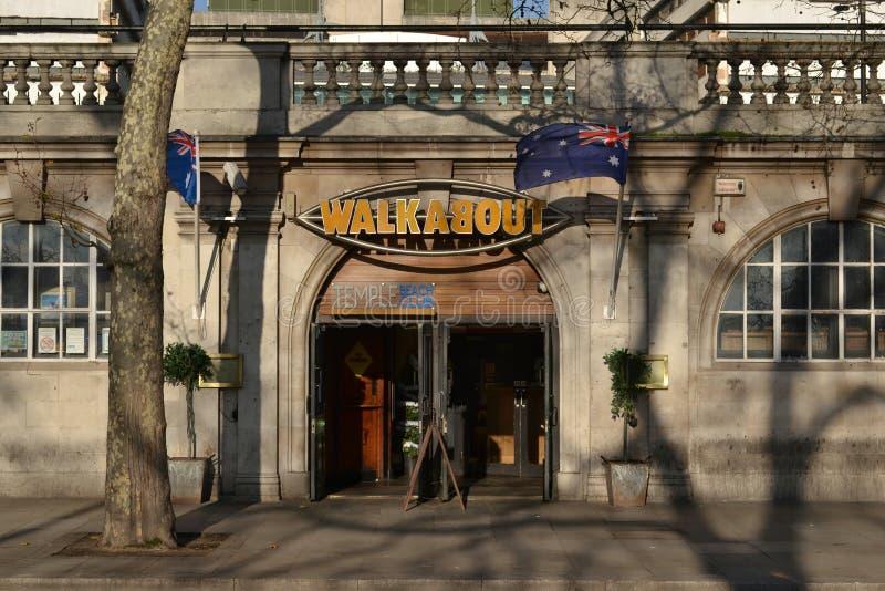 Walkabout bar London Temple stock photos