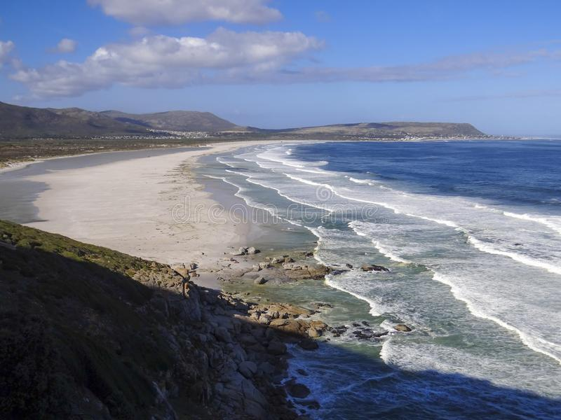 Walker Bay em Cape Town, África do Sul imagens de stock royalty free