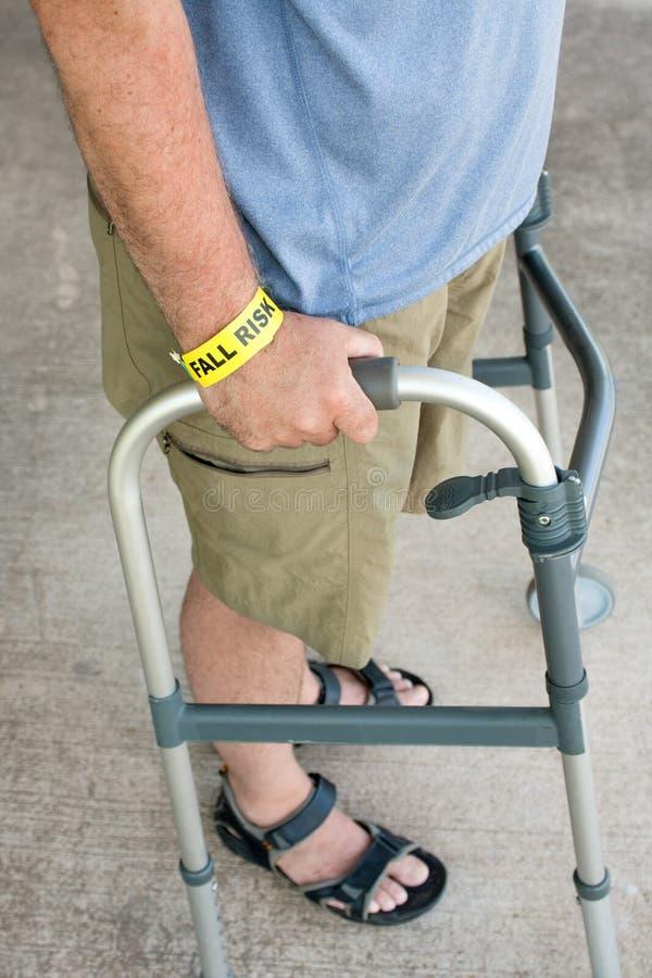 Walker With Fall Risk photographie stock libre de droits