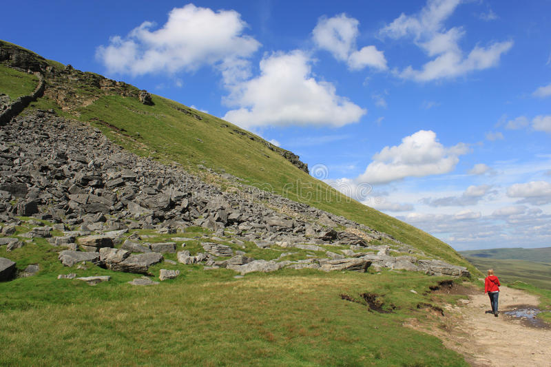 Download Walker On The Footpath To Pen-y-ghent N Yorkshire Stock Photo - Image: 25693150