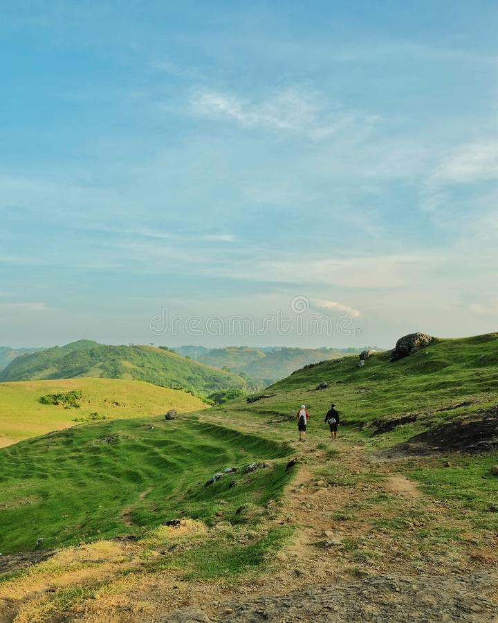 A walkers. Landscape, nature, indonesia, hills stock images