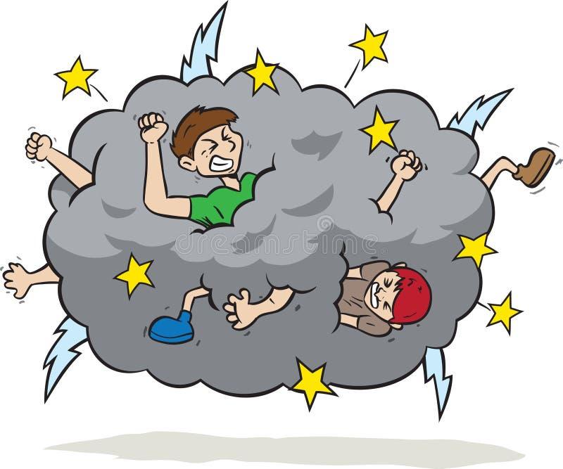 Walki chmura ilustracji