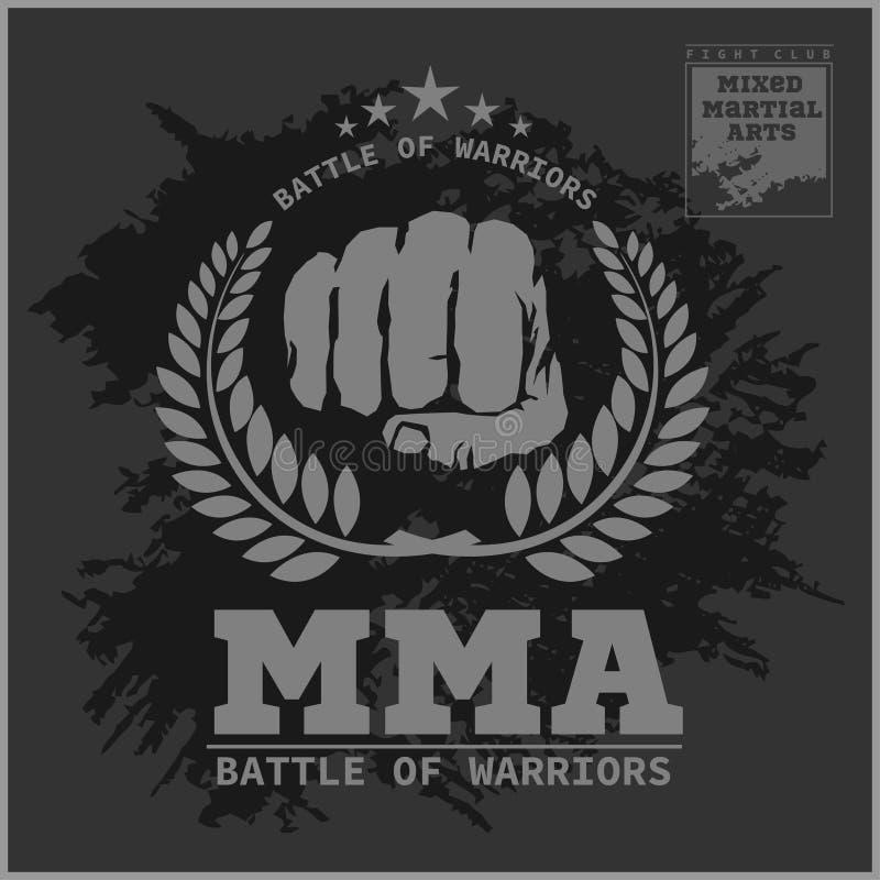 Walki MMA świetlicowe Mieszane sztuki samoobrony ilustracji
