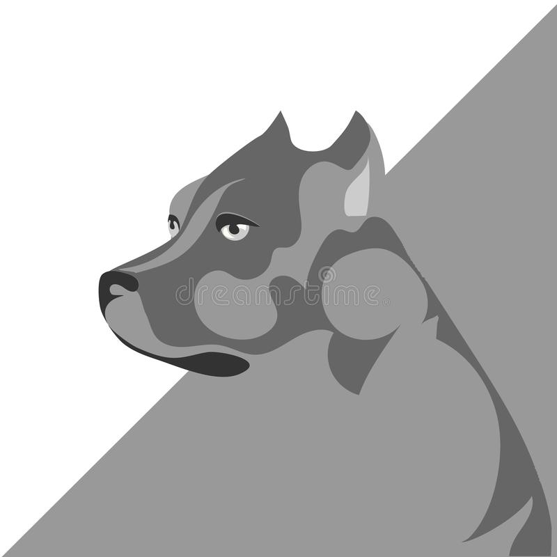 Walki psi pit bull royalty ilustracja