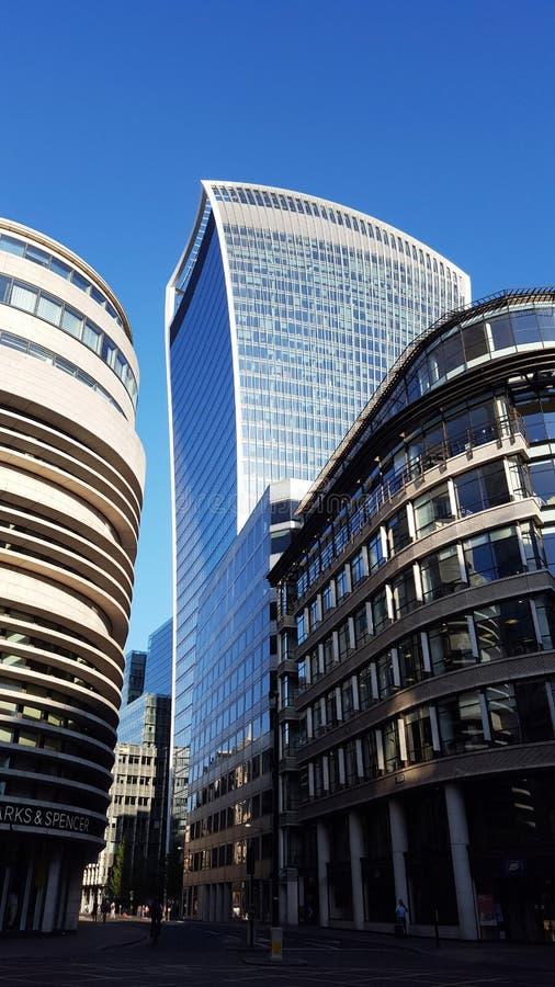 Walkie-talkie κτήριο στο Λονδίνο, UK στοκ εικόνες