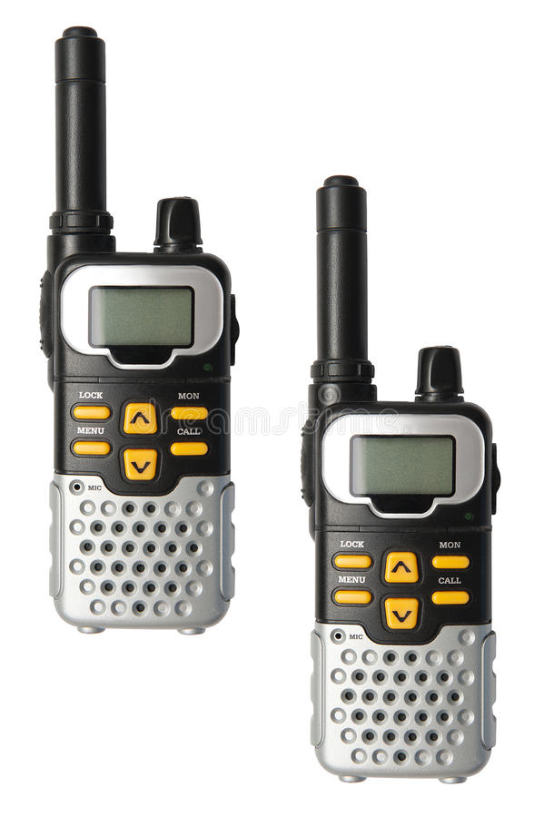 Walkie Talkie. Isolated on the white background stock images