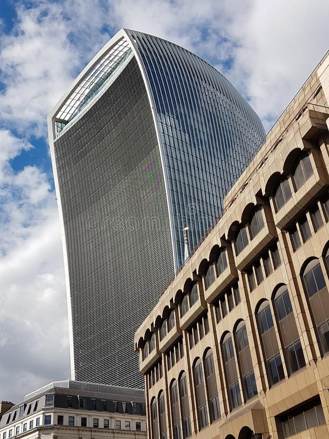 The Walkie Talkie Building, London, England. View of The Walkie Talkie Building, one of Londons newest Skyscrapers in the City of London stock photo