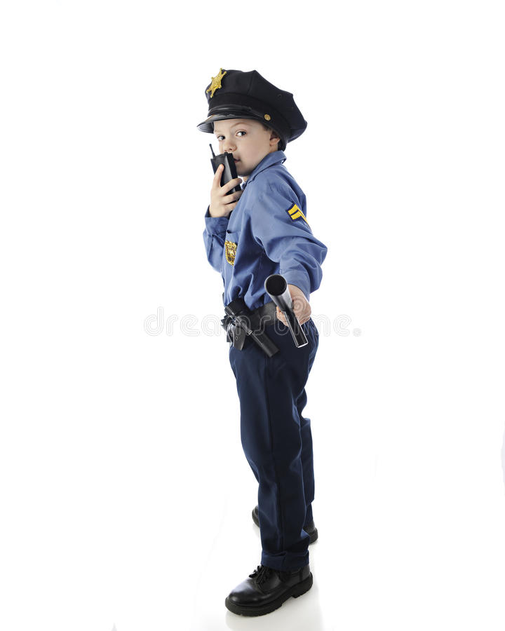 Download Walkie Talkie Cop stock image. Image of isolated, pretend - 35656745
