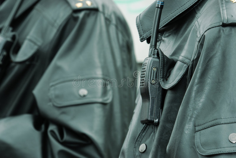 Walkie-talkie della polizia immagine stock libera da diritti