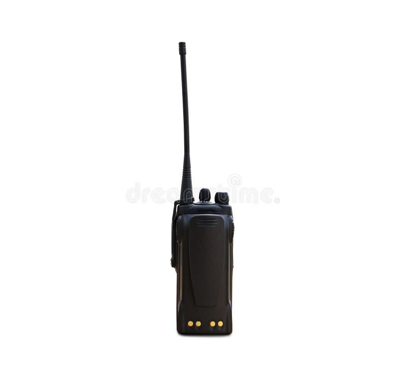 Walkie-talkie delle radio portatili su bianco immagini stock libere da diritti