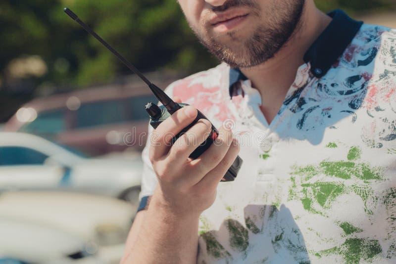 Walkie-talkie. Handheld walkie talkie for outdoor royalty free stock image