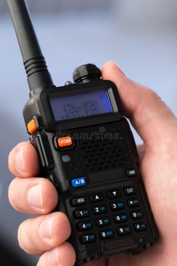 Walkie-talkie. Handheld walkie talkie for outdoor royalty free stock photography
