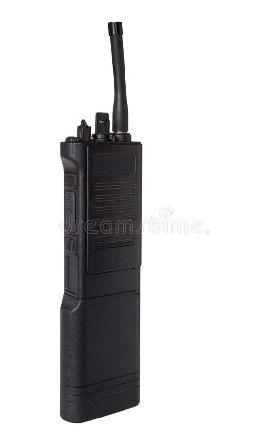 Walkie talkie. Two way radio that is termed a walkie talkie stock photo