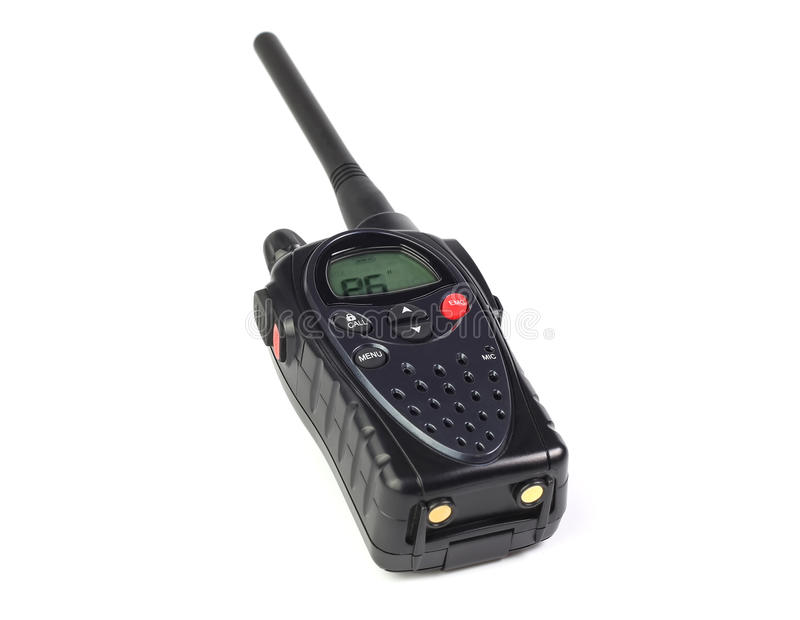 Walkie-talkie on a white. Background isolated stock photos