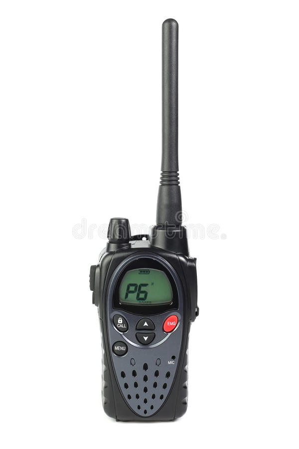 Walkie-talkie on a white. Background isolated stock image
