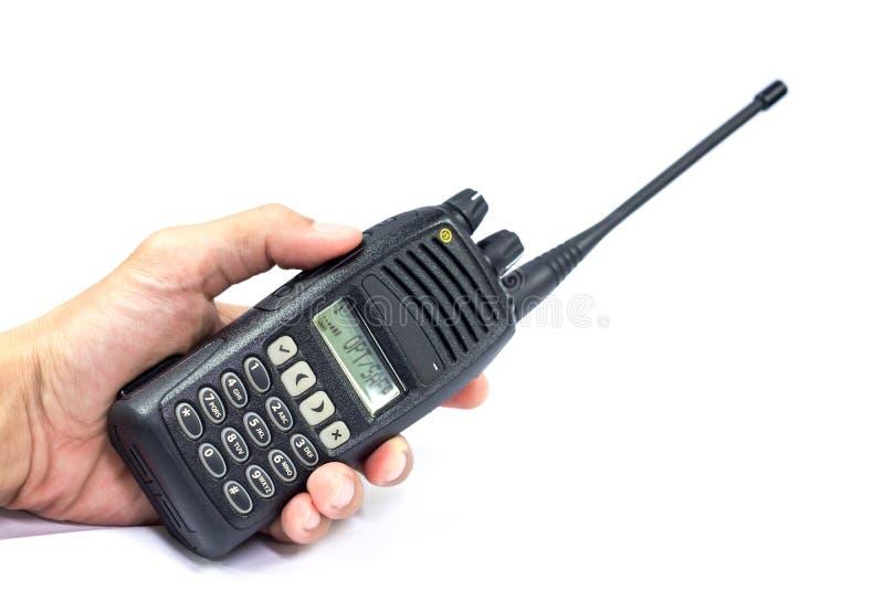 Walkies Talkie. Handheld walkie talkie for outdoor royalty free stock photos