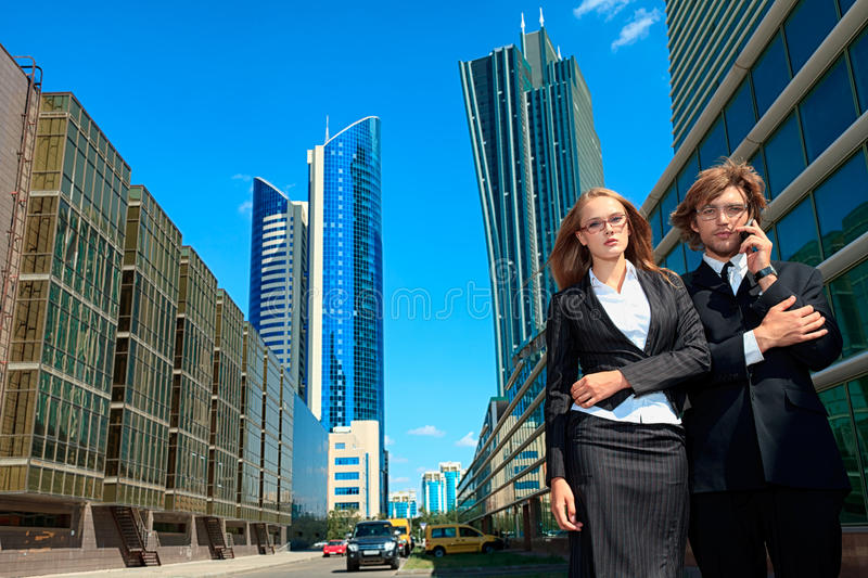 Download Walking stock image. Image of people, buildings, business - 26713663