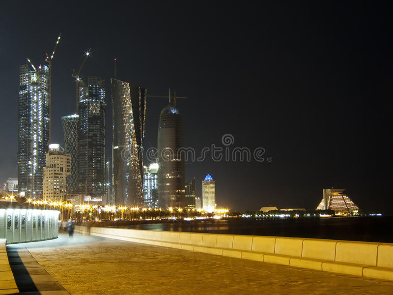 Walking around Corniche royalty free stock photo