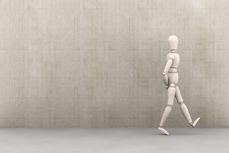 Walking away stock illustration