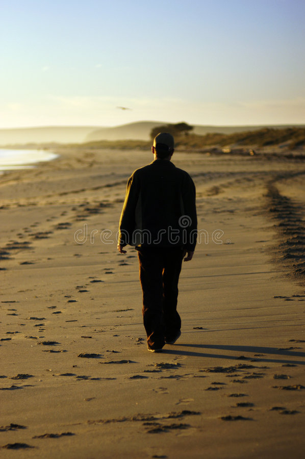Walking away stock photography