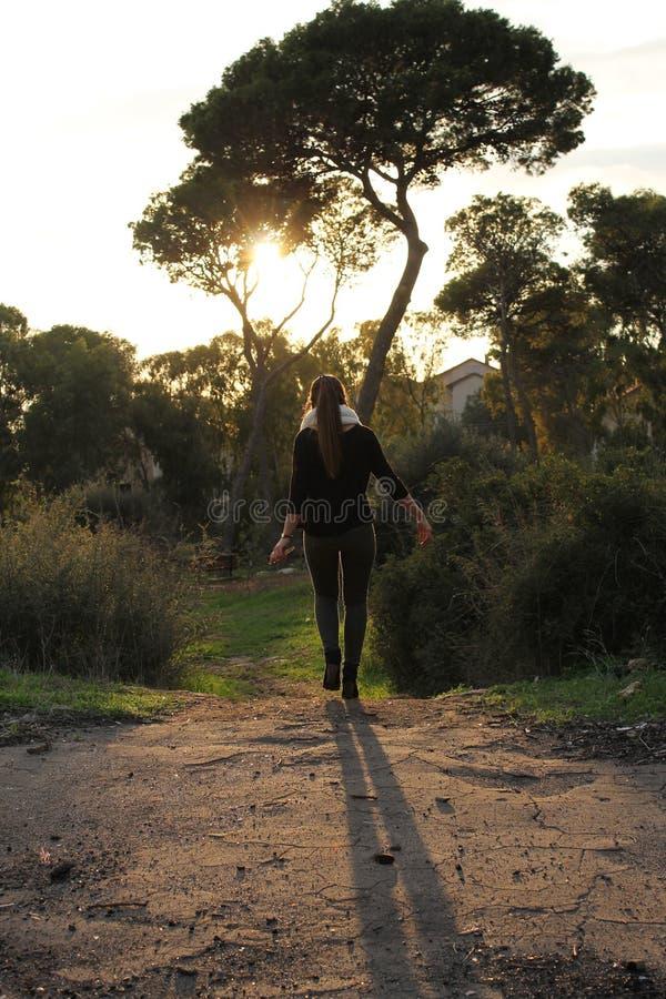 Walking away royalty free stock photography