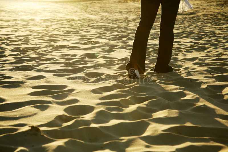 Download Walking on the Beach stock photo. Image of foot, crossing - 1522838