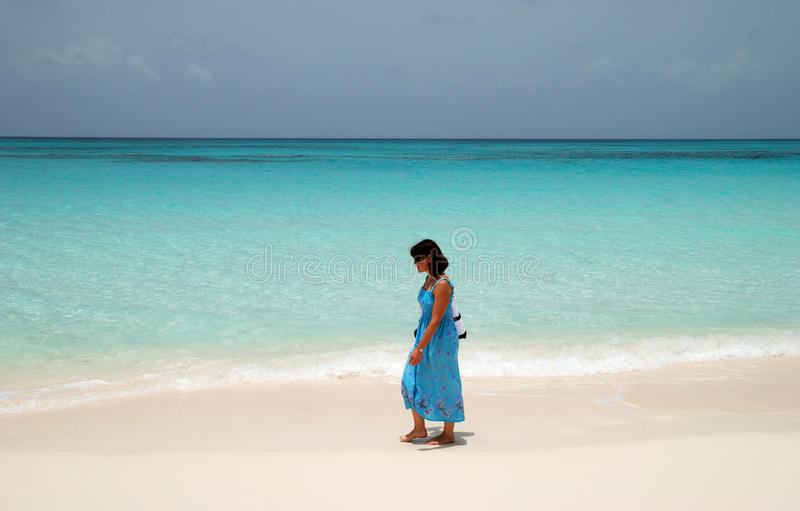 Download Walking On A Beach stock image. Image of tourism, bahamas - 21020635