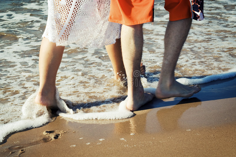 Download Walking on the beach. stock image. Image of feet, step - 5846309