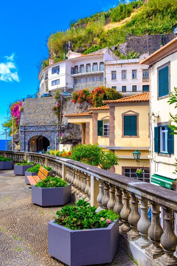 Streets of Ponta do Sol. Walking the beautiful streets of Ponta do Sol in Madeira island, Portugal stock photos
