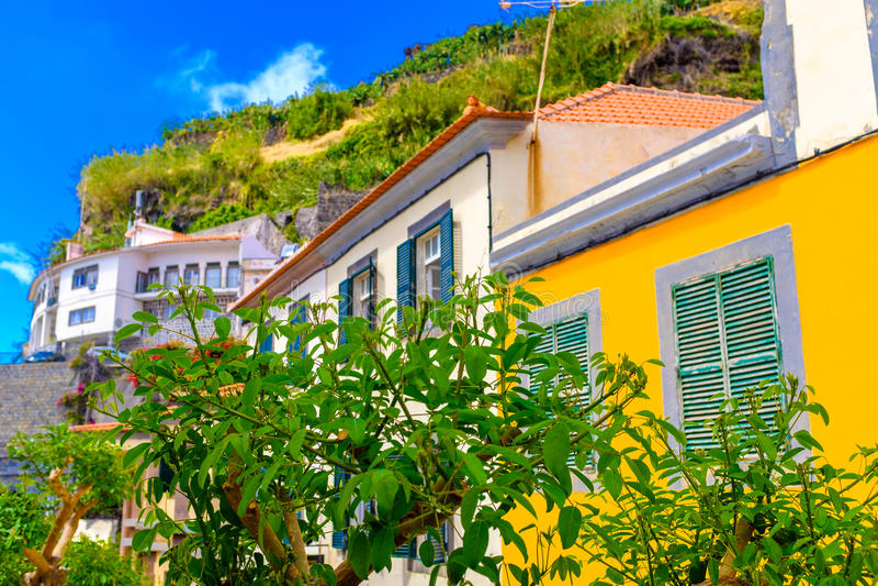Streets of Ponta do Sol. Walking the beautiful streets of Ponta do Sol in Madeira island, Portugal royalty free stock photo