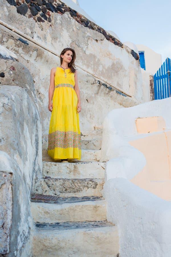 Walking beautiful woman stock photography