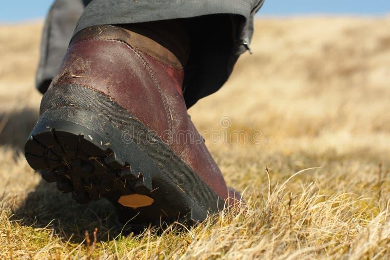 Walking boot stock image