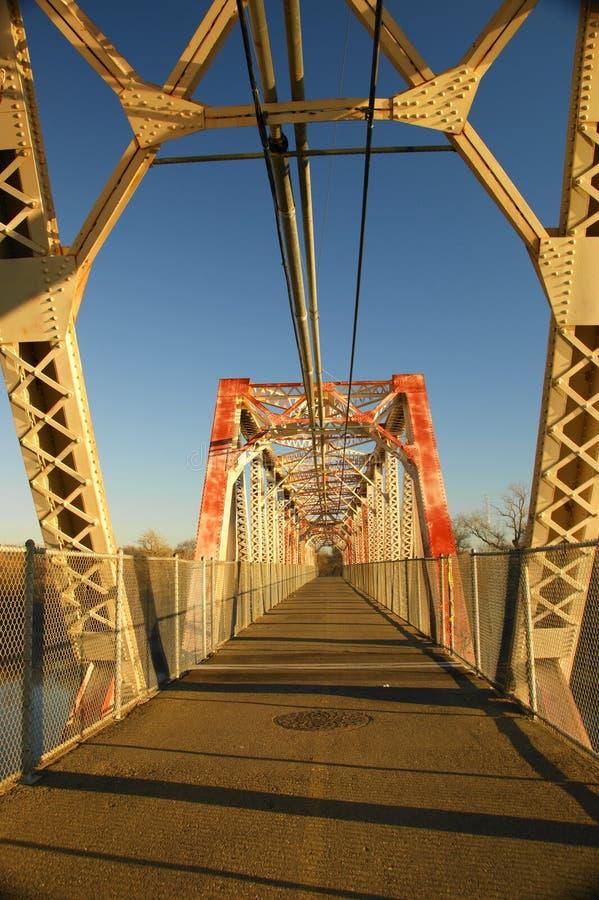 Walking bridge stock image