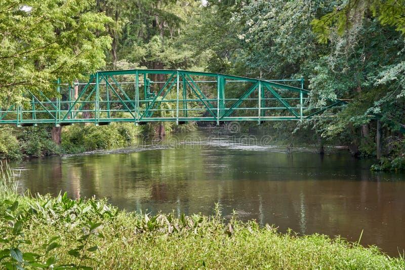 Walking bridge over Edisto River royalty free stock photos