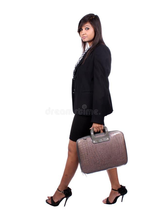 Walking Businesswoman stock photography