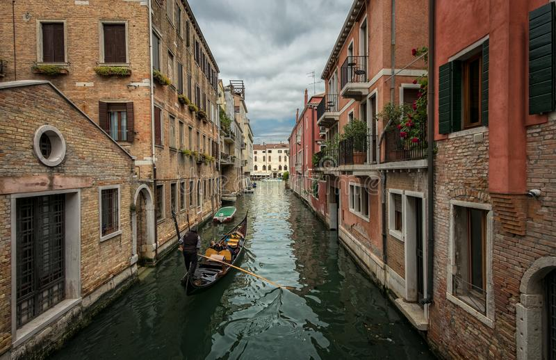 Walking through the canals of Venice. royalty free stock photography