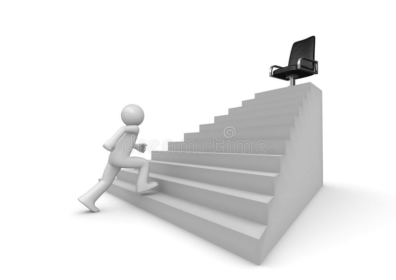 Walking On Career Ladder Stock Image