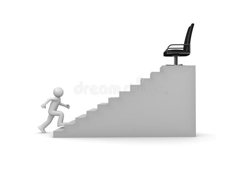 Walking on career ladder