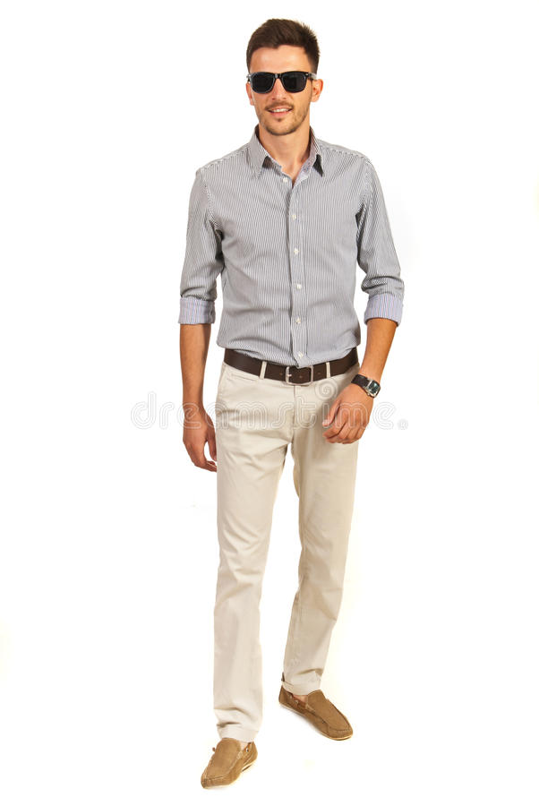Walking casual man stock image image of background shirt for Business casual white shirt