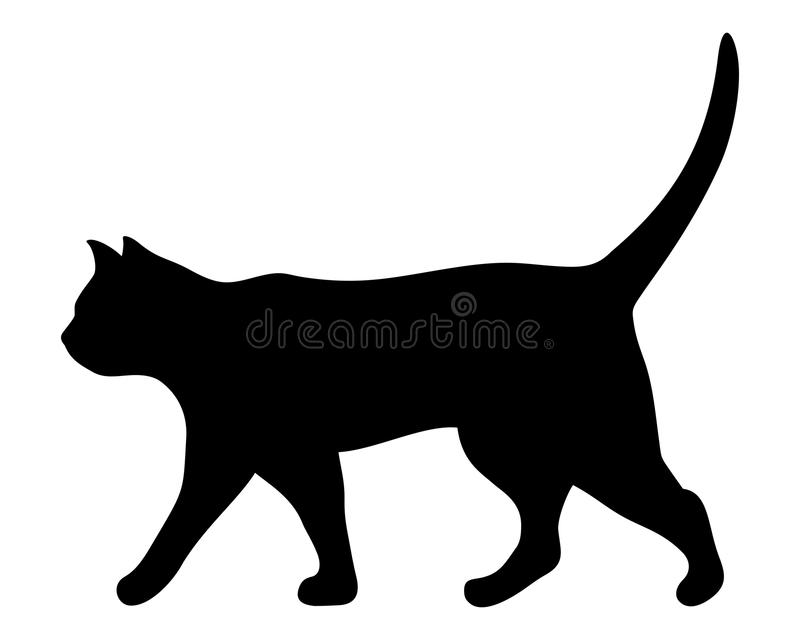 walking cat vector black silhouette stock vector illustration of rh dreamstime com cat vector image cat vector image