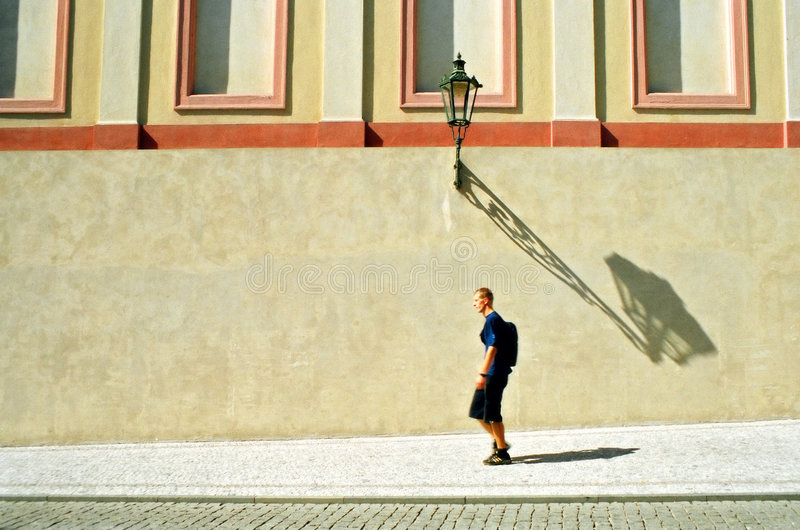 Download Walking in the city stock image. Image of prague, pass - 1406957