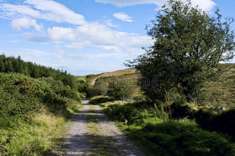 Walking in Comeraghs stock photography