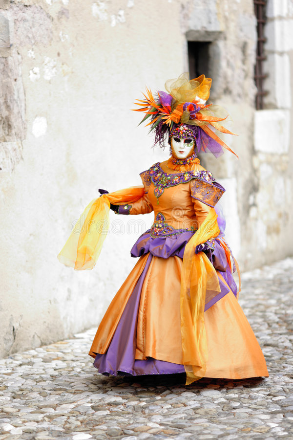 Walking in costume stock photography